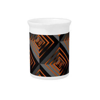 Orange and Black Layers Beverage Pitcher