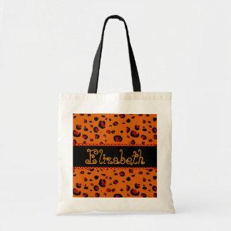 Orange and  Black Leopard Bridesmaid Bag