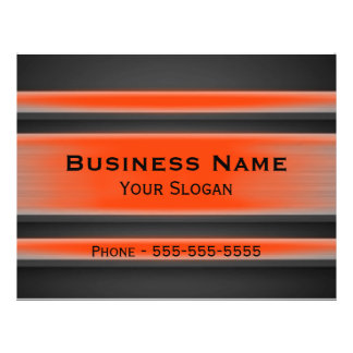 Orange and Black Metal Look Business Promo Full Color Flyer