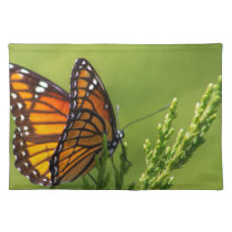 Orange and Black Monarch Butterfly Cloth Placemat