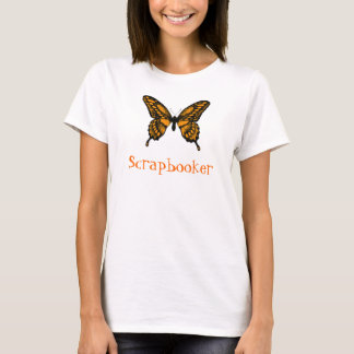 Orange and Black Monarch Butterfly, Scrapbooker T-Shirt