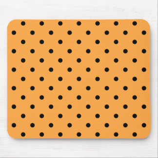 Orange and Black Polka Dot Pattern. Mouse Pad