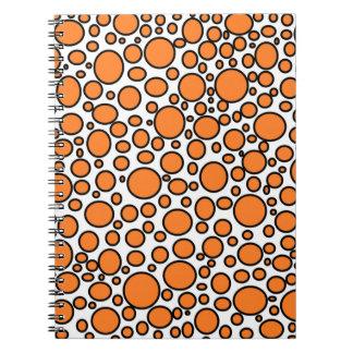 Orange and Black Polka Dots Notebook