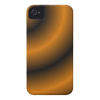Orange and Black Round Swirl Blackberry Bold iPhone 4 Case