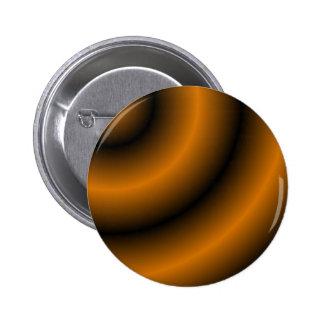Orange and Black Round Swirl Buttons
