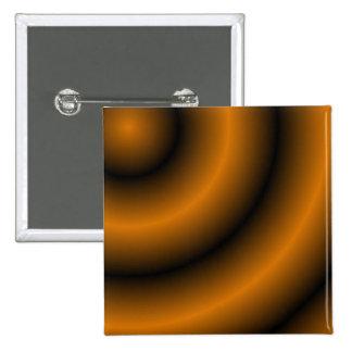 Orange and Black Round Swirl Pin