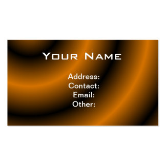 Orange and Black Round Swirl Double-Sided Standard Business Cards (Pack Of 100)