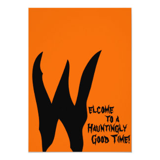 Orange and Black Spooky Card