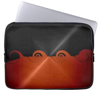 Orange and Black Stainless Steel Metal Computer Sleeve