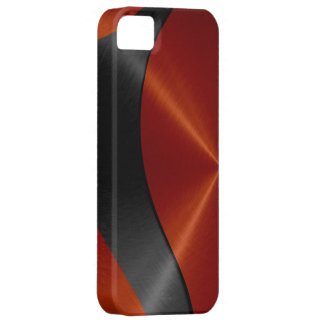 Orange and Black Stainless Steel Metal iPhone SE/5/5s Case