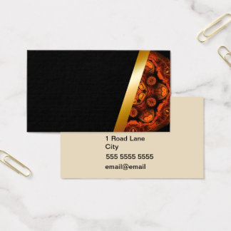 Orange and black Standard Business Card S