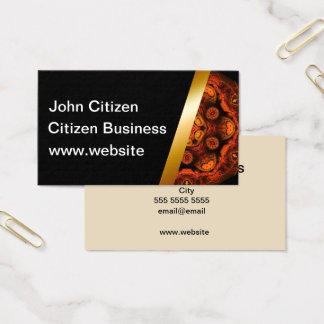 Orange and black Standard Business Card T