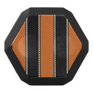 Orange and Black-Stripe Bluetooth Speaker