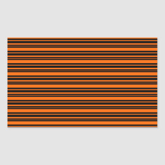Orange and Black Stripes Halloween Party Sticker