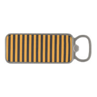 Orange and Black Stripes Magnetic Bottle Opener