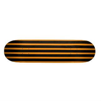 Orange and Black Stripes Skateboard Deck
