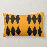 Orange and black theme Pillow Cushion