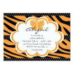 Orange and Black Tiger Print Card