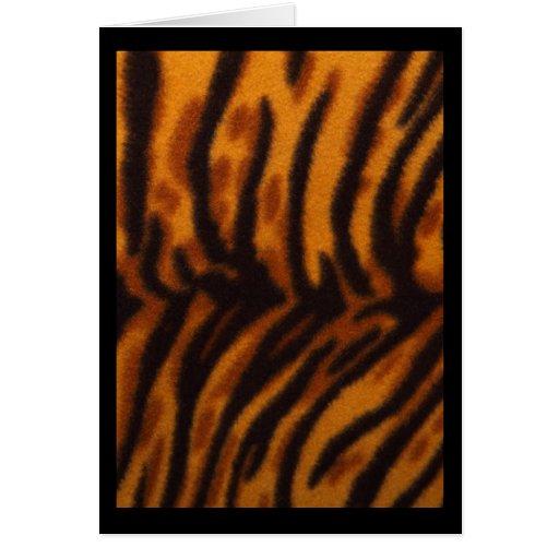 Orange And Black Tiger Print Rug Photograph Card