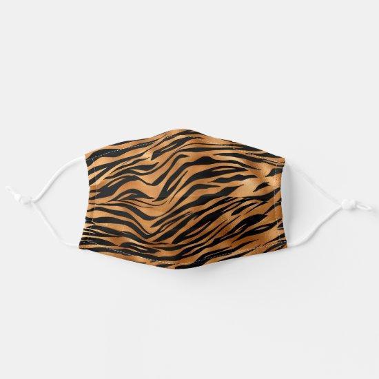 Orange and Black Tiger Stripe Adult Cloth Face Mask