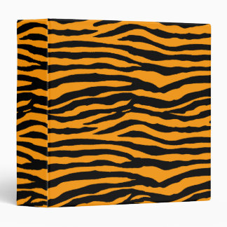 Orange and Black Tiger Stripes Binder