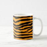 Orange and Black Tiger Stripes Coffee Mug