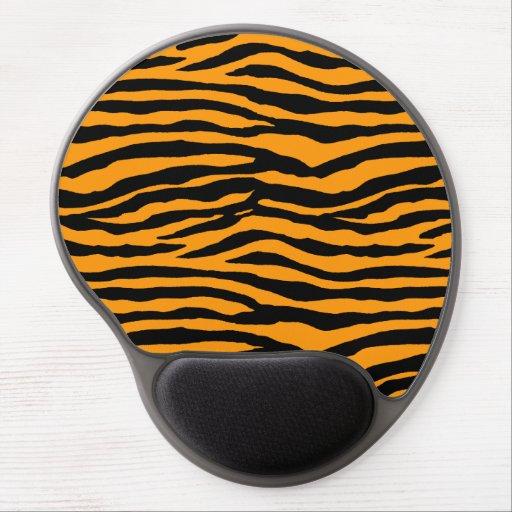 Orange and Black Tiger Stripes Gel Mouse Mat