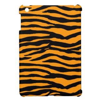 Orange and Black Tiger Stripes iPad Mini Cover