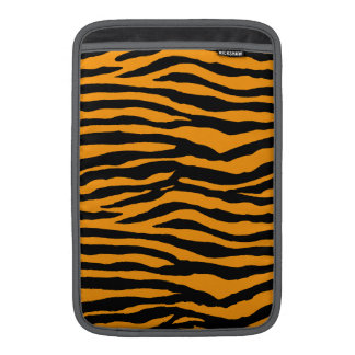 Orange and Black Tiger Stripes Sleeve For MacBook Air