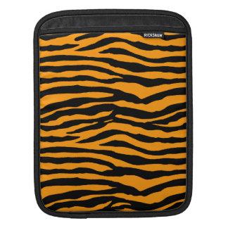 Orange and Black Tiger Stripes iPad Sleeves