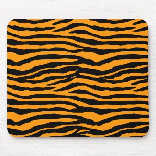 Orange and Black Tiger Stripes Mousepads