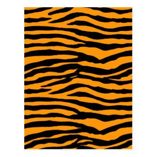 Orange and Black Tiger Stripes Postcard