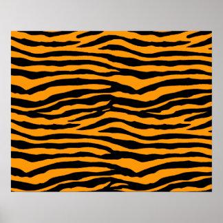 Orange and Black Tiger Stripes Poster
