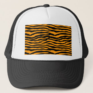 Orange and Black Tiger Stripes Trucker Hat