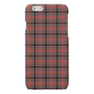Orange and Black Urban Plaid Glossy iPhone 6 Case