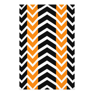Orange and Black Whale Chevron Stationery