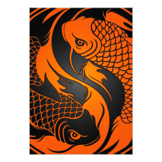 Koi fish invitations 220 koi fish announcements invites for Orange and black koi