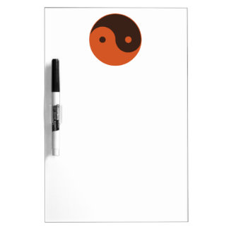 Orange And Black Yin/Yang Symbol Dry-Erase Boards