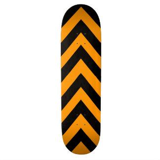 Orange and Black Zig Zag Skateboard Deck