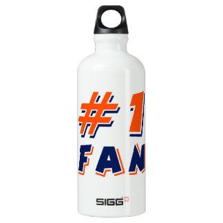Orange and Blue #1 Fan Aluminum Water Bottle