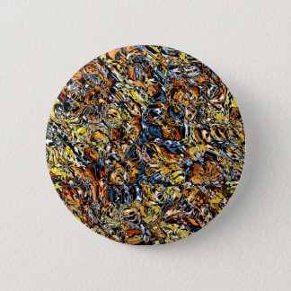 Orange And Blue Abstract Pinback Button