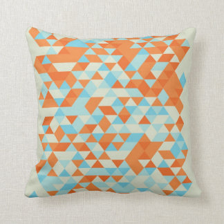 Blue And Orange Triangle Pattern Pillows - Decorative & Throw Pillows Zazzle