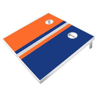 Orange and Blue Add Your Logo Cornhole Set