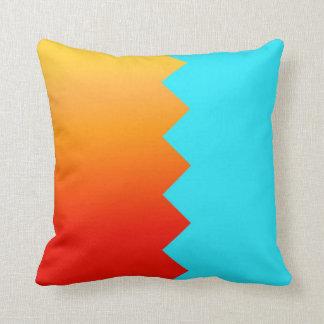 Orange and Blue American Mojo Pillow