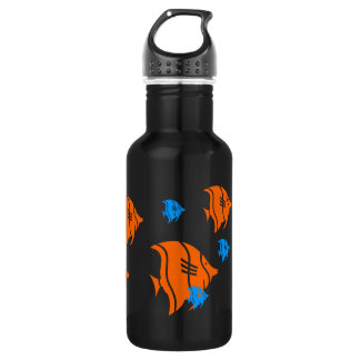 Orange and Blue Angel Fish 18oz Water Bottle