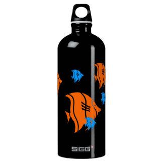 Orange and Blue Angel Fish Aluminum Water Bottle