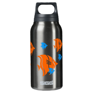 Orange and Blue Angel Fish Insulated Water Bottle