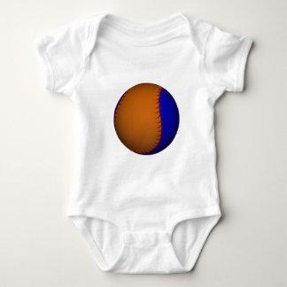 Orange and Blue Baseball Baby Bodysuit