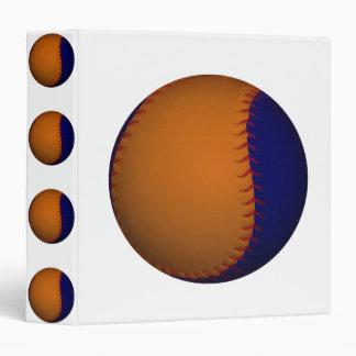 Orange and Blue Baseball Binder