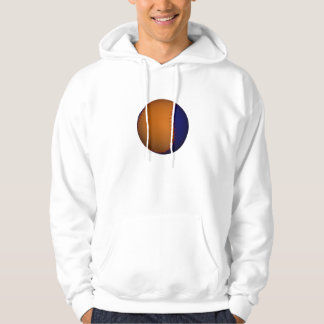 Orange and Blue Baseball Hooded Pullover